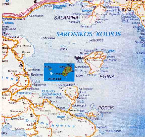 location of Agistri